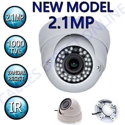 Hdtvi 2.1mp 2.8-12mm Varifocal Dome Cctv Surveillance Security Camera Outdoor