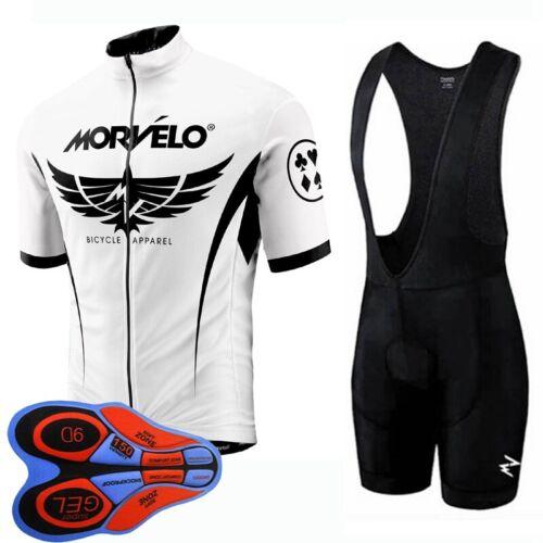 New Team Bike Clothing Cycling Jersey Suit Men Short Sleeve Shirt Bib Shorts Set