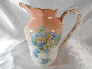 """Ravissant Pichet / Pot A Lait """" Floral """" Porcelaine De Limoges Ou Paris R8hj0nk6-07234151-692150959"""