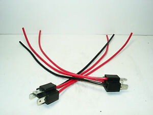 2-NEW-H4-Headlight-Bulb-Male-Wire-Harness-Connector-Wiring-plug-socket-adapters