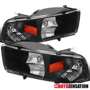 For-1994-2001-Dodge-Ram-1500-Black-Headlights-w-Turn-Signal-Lamps-Pair