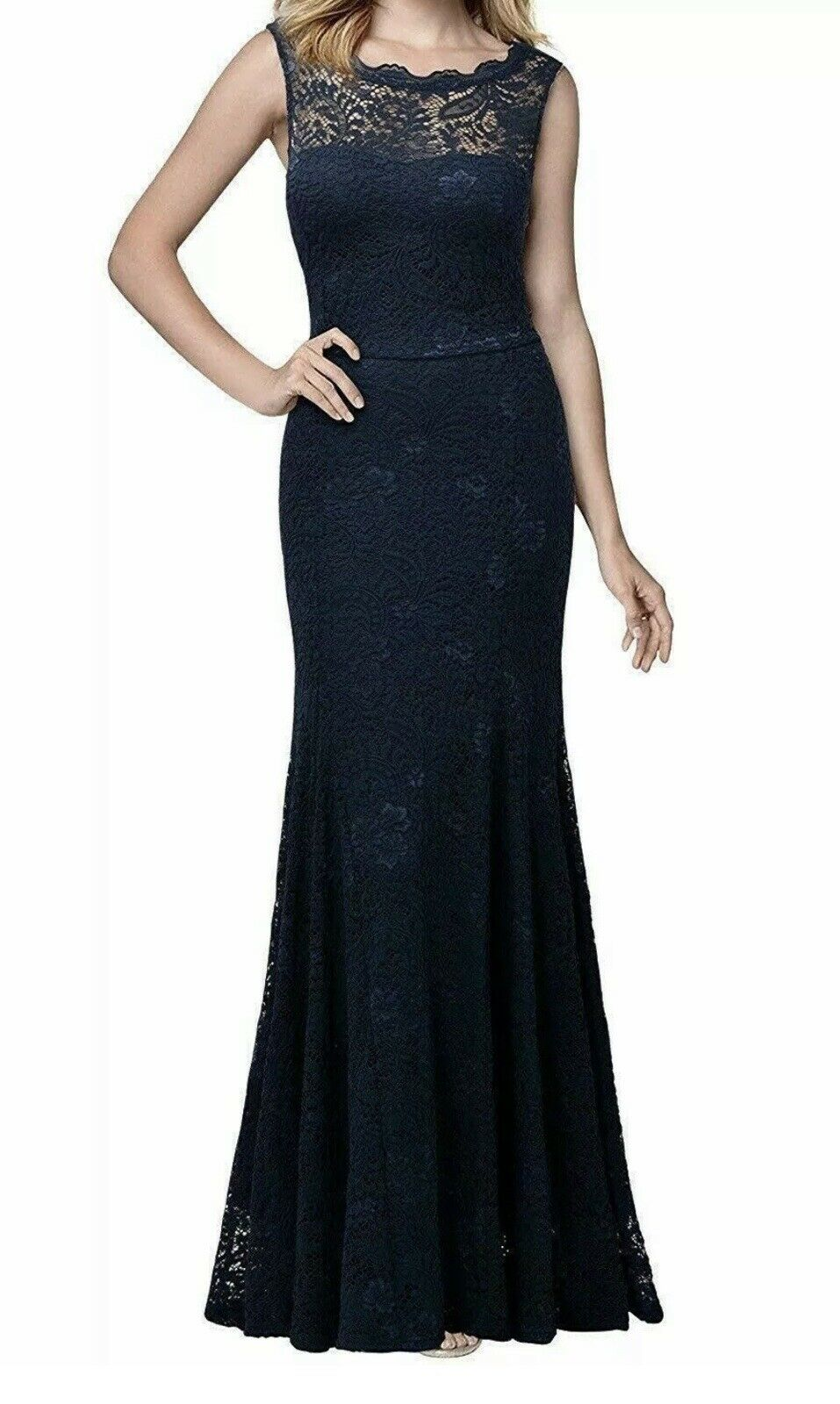 Women's Formal Plus Size XXL Navy Blue Lace Mother of the Bride MIUSOL #C186