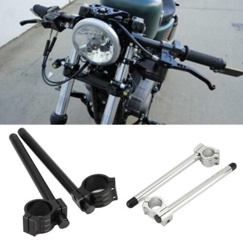 "Universal Motorcycle Clip On 7//8/"" CNC Handlebar 35//37//39//41//43//50MM Fork Tube"