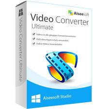 Video Converter Ultimate 9 WIN Aiseesoft dt.Vollver 1 Jahr-Lizenz Download 19,00
