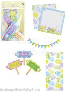 Kitchen-Craft-Hoppity-Easter-Childrens-Egg-Hunt-Bunting-Signs-Treat-Bags-Set