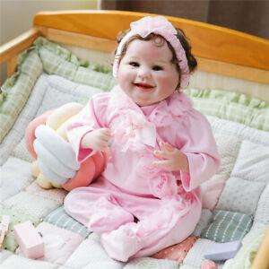 "22"" New Lifelike Handmade Reborn Baby Dolls Babies Silicone Doll Toy Girl"