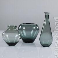 WMF Glas Vasen Wilhelm Wagenfeld 3er Konvolut 50er Jahre Turmalin vintage & alt