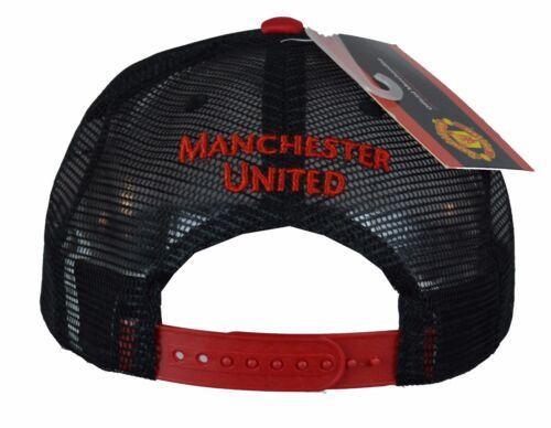 Manchester united cap trucker hat red new snapback mens football soccer adjustab
