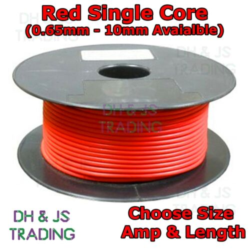 Red Single Core Cable 1mm 2mm 3mm Automotive Single Core Wire Car Van Marine Amp