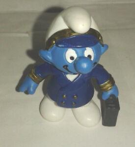 Bd-figurine-schtroumpf-pilote-de-ligne-2000-peyo-schleich-SMURF-PUFFI