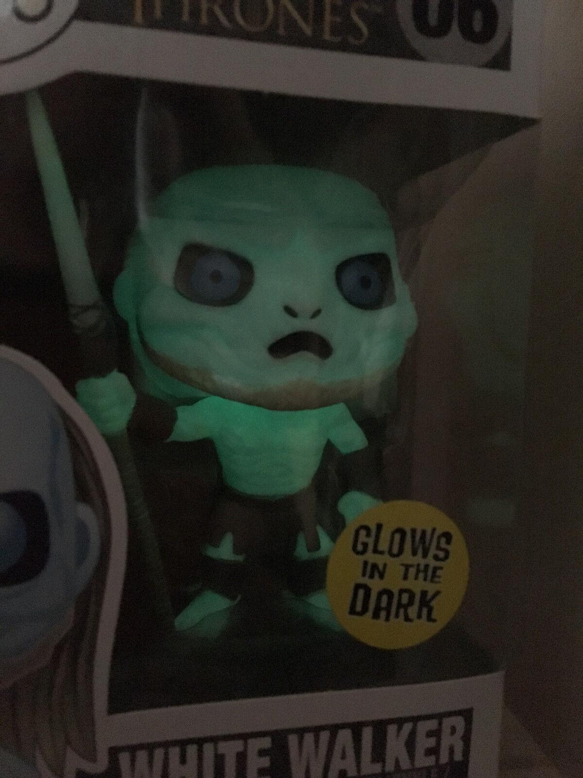 Funko Pop  Juego of Thrones HMV Sanity exclusivo brillan en la oscuridad blancoo Walker