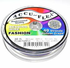30/' Accuflex Spring Green 49 strand .019in Accu-flex Beading Wire NEW!