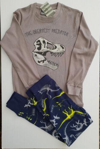 BNWT Boys Sz 10 Under Cover Crew Dino Grey Marl Long Jersey Knit Winter Pyjamas