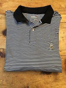 Ralph-Lauren-RLX-Mens-XL-Navy-White-Stripe-Short-Sleeve-Stretch-Golf-Polo-Shirt