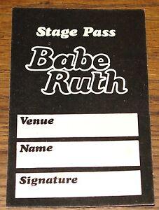 BABE-RUTH-ORIGINAL-1973-BACKSTAGE-ACCESS-PASS