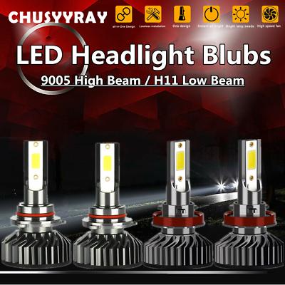1 par 9003 H4 Bombillas LED faros kit de alta y baja Beam 80W 6000K Blanco 12V-24V
