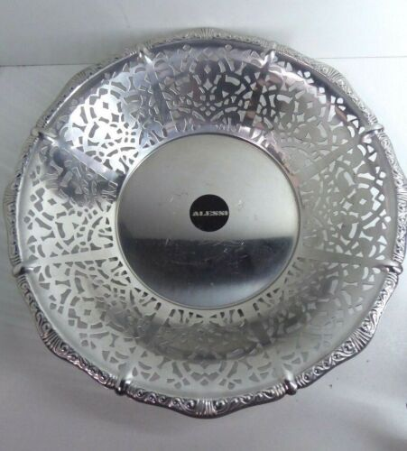 VINTAGE ALESSI PIERCED DECORATIVE STEEL BOWL