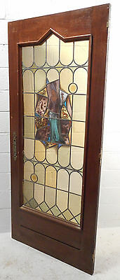 Tall Antique Vintage Stained Glass Art Door (1453)NJ