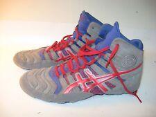 88a53efb89c9f Asics Dan Gable Ultimate Men s Gray Red Wrestling Shoes J500Y - US 9.5 (EU  42