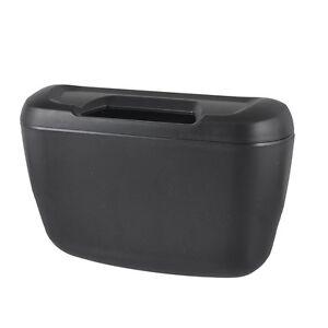 Black-Plastic-Vehicle-Auto-Goods-Car-Trash-Bin-Garbage-Box-w-Hook-W5Y5