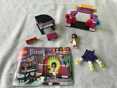 """Lego FRIENDS /""""Andrea/'s Stage/""""  #3932-100/% Complete w// Manual"""