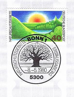 Brd 1980: Naturschutzgebiete Nr 1052 Mit Sauberem Bonner Sonderstempel! 1a! 154 In Verschiedenen AusfüHrungen Und Spezifikationen FüR Ihre Auswahl ErhäLtlich
