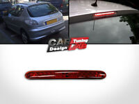 PEUGEOT 206 2D 5D Red Lens RED LED REAR 3rd THIRD BRAKE LAMP LIGHT Stop Lamp