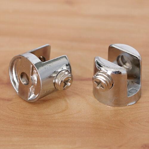 2pcs Pinces à Verre Support Ajustable Motif Cylindrique Courante D/'escalier