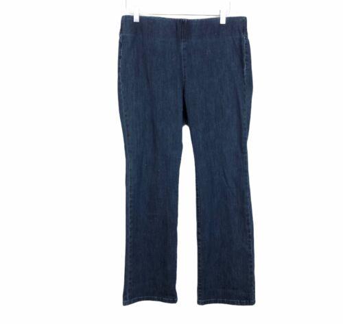 Soft Surroundings Petite Pull On Boot Cut Jean Blu