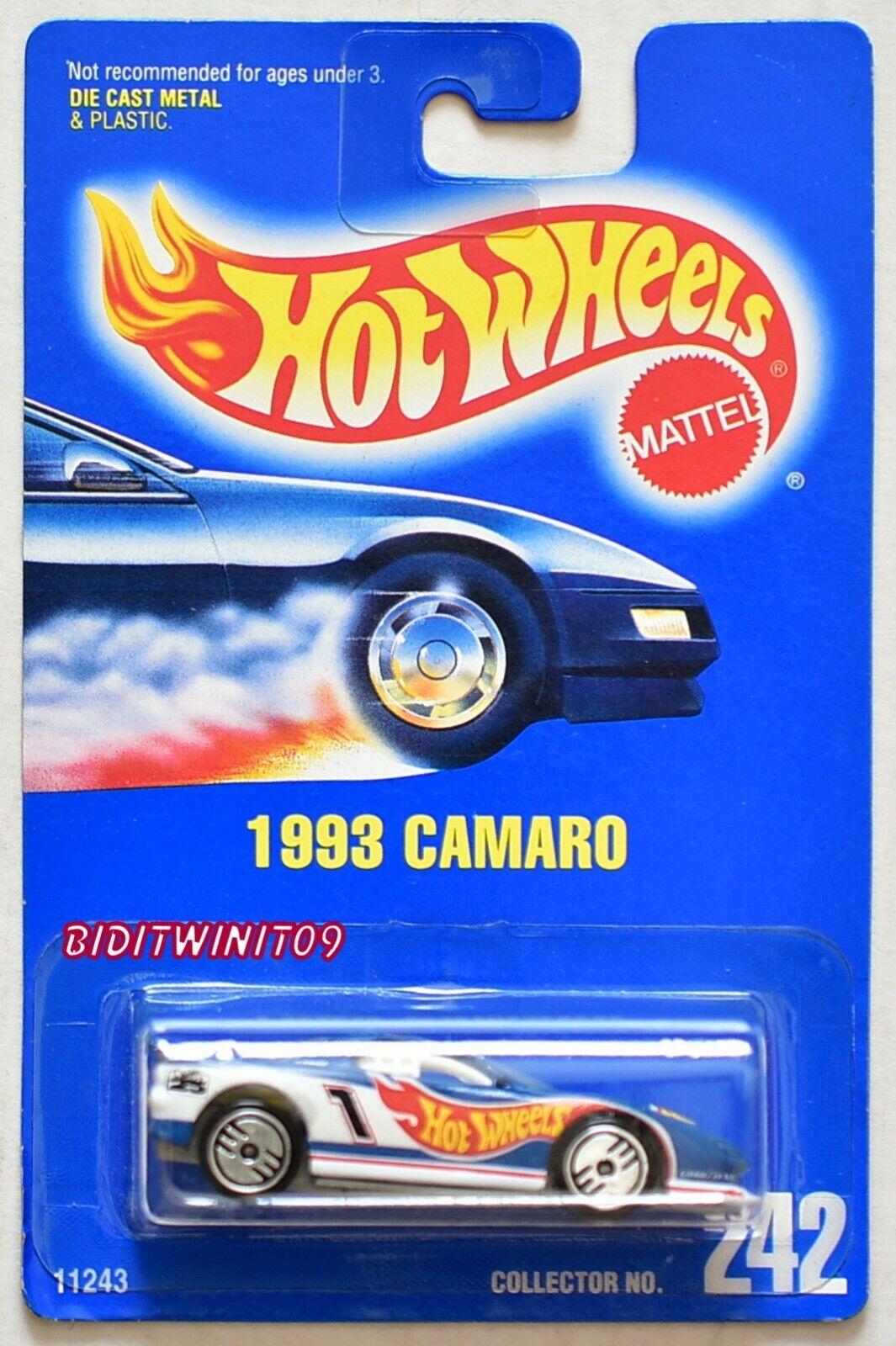 Hot Wheels 1991 carte bleue 1993 Camaro  242 avec euh roues 03 W +