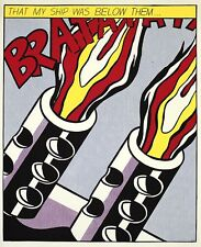 Roy Lichtenstein as I opened fire III 1964 litografia immagine grafica