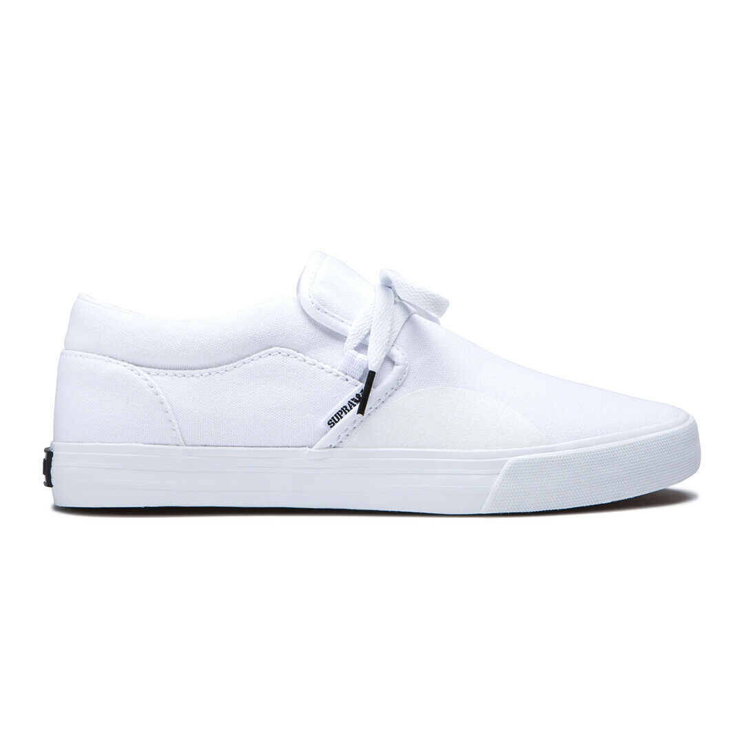 Supra Cuba shoes (Off White) Men's Slip On Casual Canvas Dress shoes Sneakers