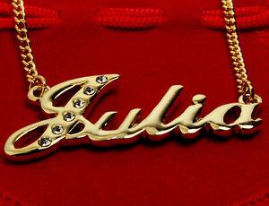 collier prenom julia