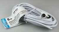 Skymaster® 5m Antennenkabel Weiß Koax Stecker/kupplung