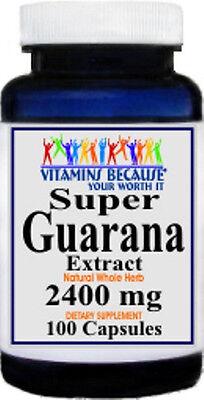 Super Guarana Extract 2400 mg 100 Capsules