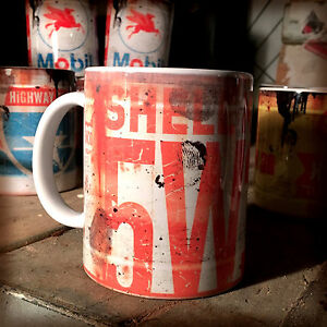 2x-shell-5w-oil-can-Gift-Motorcycle-Car-Mechanic-Gift-11oz-Tea-coffee-mugs