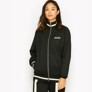 Ellesse-Womens-Jacket-Track-Top-Amatrica-Black-Sz-10-uk