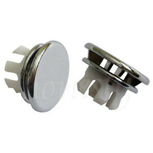 Details About 2pcs Durable Artistic Basin Spare Bathroom Round Sink Overflow Cover Tidy Chrome