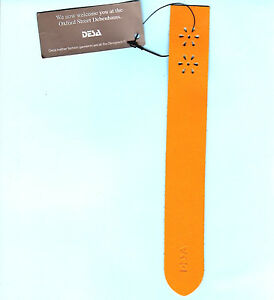 Image Is Loading New Leather Bookmark Floral DEBENHAMS Yellow London Birthday