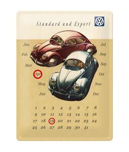 Nostalgie-Blechschild-VW-Kaefer-Kalender-Blechschilder