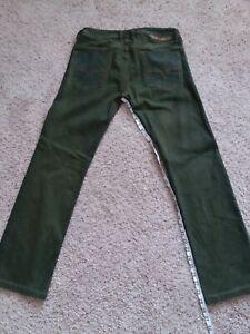 Mens Green Diesel Safado Jeans Pantalones De Hombre Marca Diesel Ebay