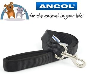 Ancol-Padded-Heritage-Strong-Nylon-Dog-Puppy-Lead-Padded-Handle-1-8m-x-25mm-Blk