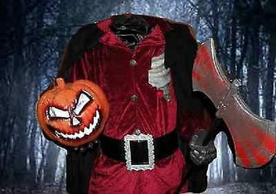 LIFESIZE HEADLESS HORSEMAN HALLOWEEN DISPLAY PROP 6FT ANIMATED ANIMATRONIC