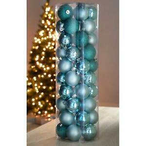 image is loading turquoise blue duck egg shatterproof christmas tree bauble - Duck Egg Blue Christmas Decorations