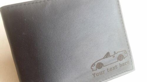 mercancía regalo presente na 1,8 Mazda Mx5 Mk2 Personalizado De Hombre Cartera De Cuero