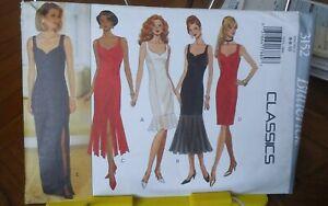 Butterick-Classics-3152-misses-cocktail-dress-shaped-neckline-hem-sz-6-10-NEW