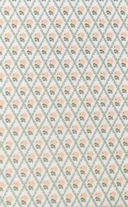 100% De Qualité 3 Feuilles De Rachael Peach & Blanc Papier Peint Pour Une Maison De Poupées, Miniature, Décoration-afficher Le Titre D'origine Doux Et LéGer