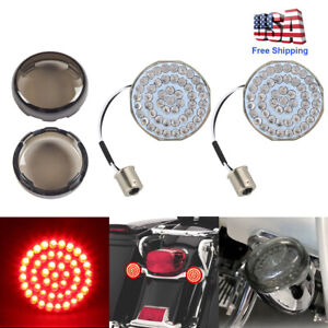 LED BRIGHT Rear Front Turn Signal Inserts Bullet Style Harley Davidson 1157//1156