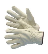 4 Pairs Full Cow Grain Leather Driver Work Gloves Keystone Size Large