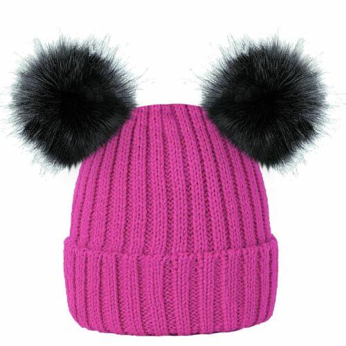 Bambine Rockjock Cappello Ponpon Pom Berretto Pile Termico Inverno Isolato